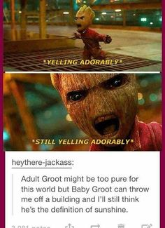 Groot No matter how old you are,can do no wrong #groot #marvel #cosplayclass