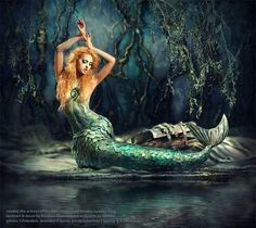 Iara, a Mermaid from Brazilian folklore, she lives on the rivers of dense jungles.