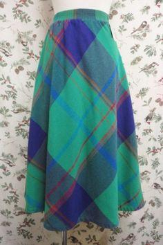 Vintage Skirt 〜チェック×フレアー〜