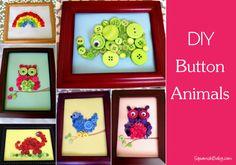 DIY Button Animals