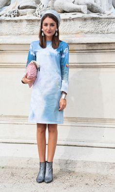 Лазурная красота: 25 модных образов с шикарным голубым (фото)