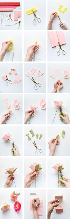 Peony Favors | Oh Happy Day! 5 Minute Peony crepe paper