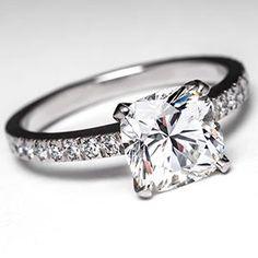 Tiffany Novo Engagement Ring w/ 2 Carat Cushion Cut  Diamond in Platinum....its so pretty <3 Tiffanys