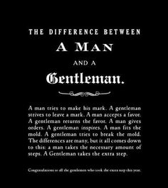 Difference between a man and gentleman