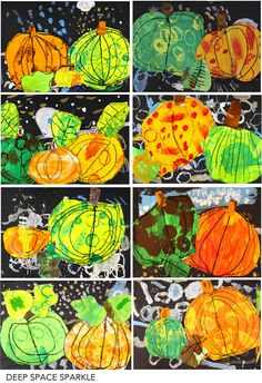 Kids practice their painting, drawing, cutting and pasting skills in this easy pumpkin art project art projects easy fall Halloween Art Projects, Fall Art Projects, Art 2nd Grade, Classe D'art, Art Du Collage, Kindergarten Art Lessons, Pumpkin Art, Paper Pumpkin, Deep Space Sparkle