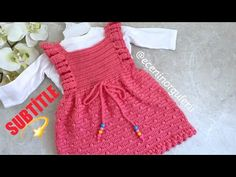 Crochet Frilly Dress/Baby Dress/1-3 Χρόνια/Με Υπότιτλους - YouTube Frilly Dresses, Baby Girl Crochet, Baby Dress, Projects To Try, Summer Dresses, Sleeves, Fashion, Crochet Baby Dresses, Infant Dresses