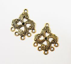Gold Chandelier Earring Findings 24x16mm Antique Gold Connector ...