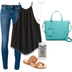 A fashion look from May 2016 featuring MICHAEL Michael Kors jeans, Jack Rogers sandals and Kate Spade shoulder bags. Browse and shop related looks.