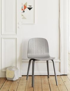 The VISU wood base chair is an ergonomic and functional chair with a timeless and recognizable profile. Formpressed veneer wood gives the shell of the chair its characteristic shape and creates visible lines and patterns in the surface that complement the design. The details and shapes of the wooden legs create an illusion of the chair floating elegantly over the floor. Also available with upholstered seat.
