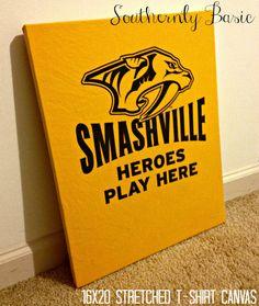 Nashville Predators Stretched Canvas TShirt by SouthernlyBasic, $32.00
