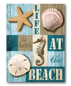 Life at the Beach Canvas Wall Art | Daily deals for moms, babies and kids