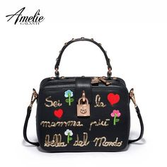 Galanti Delicate Embroidery Rivet Handbag