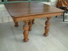 Quartersawn Oak antique table...have various tables like this with leaves at Antiques Oronoco...Oronoco,MN.