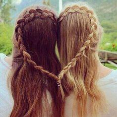 Best Friends Braid Their Hair Together! - Best Friends Braid Their Hair Together! Informations About Best Friends Braid Their Hair Together!