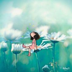 Margot Pom added a new photo. Cartoon Drawings, Art Drawings, Image Positive, Art Mignon, Illustration Artists, Cute Cartoon, Animated Gif, Cute Art, Alice In Wonderland