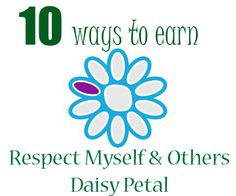 how to earn respect myself and others purple daisy petal