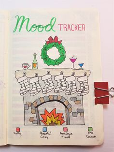 Christmas bullet journal layout kendin yap рисунки, идеи ve