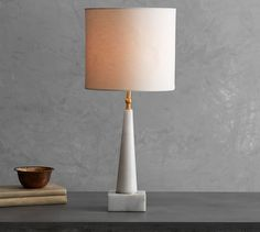 "179  4.5"" diameter, 24.75"" highJayce Marble Lamp 
