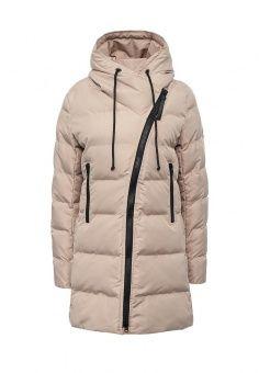 Куртка утепленная, Imocean, цвет: бежевый. Артикул: IM007EWMDV27. Женская одежда / Верхняя одежда / Пуховики и зимние куртки