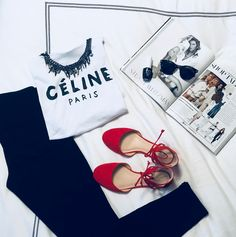 #DetailsOfTheDay Nine West d'Orsay flats #DetailsOfTheDay #Celine #tshirt #StatementNecklace #Ootd #opi #lessisnorse #Graphictee