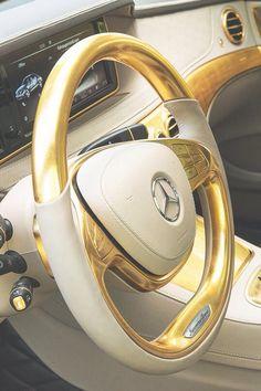 Glamorous Life. . . Gold Benz. . .#luxury 042515
