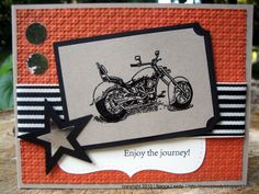 Stampin Up motorcycle card by Nance Leedy