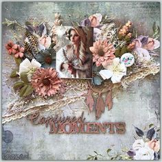 """77 Likes, 4 Comments - 49 and Market (@49andmarket) on Instagram: """"A gorgeous layout created recently by DT member @torsa.saha using our newest """"Tattered Garden""""…"""""""