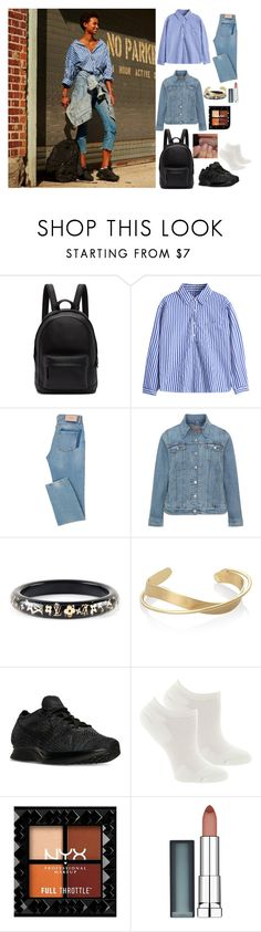 """See Me Now?"" by bukkyonibokun ❤ liked on Polyvore featuring PB 0110, Levi's, Louis Vuitton, NIKE, Fox River and Maybelline"
