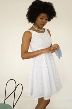 Chantilly Dress Sewing Pattern, never mind the dress, that hair is everything!