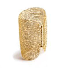 Pulsera brazalete Cleopatra oro de crochet de alambre por Yoola