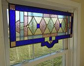 Stained Glass Transom Window Suncatcher Panel by HelioGlass