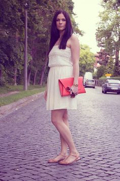 Kleidermaedchen-facebook-zara-sandalen-sandals-outfit-of-the-day-dress-kleid-sommerkleid-2013-sommer-neon-weiss-trend-fashion