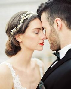 """What's your best way to """"decompress"""" during a stressful day/week? It seems like these cuties have it all figured out 😍 See them on Photo Headpiece Bride & Groom Make-up & Hair: gilbird. Wedding Beauty, Luxury Wedding, Luxury Lifestyle Women, Strictly Weddings, Hair Ornaments, Bridal Headpieces, On Your Wedding Day, Bridal Style, Bride Groom"""