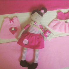 Beautiful gift for a little girl Doll with her dresses and bag