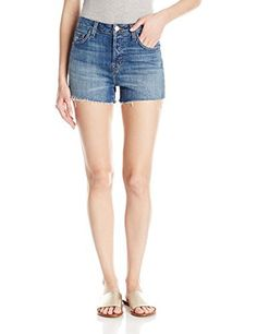 J Brand Jeans Women's Gracie H/r Short J Brand Jeans women's Gracie H/r short. A high-rise short in lightweight slub comfort denim with mild destruction. Frayed hems. Brushed copper shank.High-rise21.5-inch leg opening3-inch inseam10.5-inch rise10.75-ounce indigo stretch denim  7 for all mankind, Brand, calvin jeans, Diesel, dl1961, g-star, Gracie, guess jeans, Hollister, Hr, Hudson, hudson jeans, j brand, jeans, levi, lucky brand, paige jeans, pepe jeans, Short, Supe