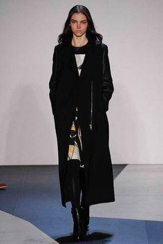 Helmut Lang | how to wear a long coat