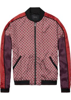 Maison Scotch Bomberjakke print 101944 Bomber Jacket - Print mixed – Acorns