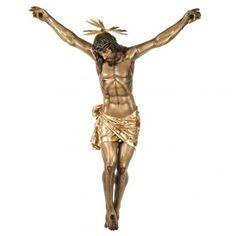 Cuerpo de Cristo muerto 160cm pasta de madera, acabado extra