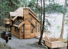 Cottage with Rear Views - 9800SW | Cottage, Mountain, Vacation, Photo Gallery, 2nd Floor Master Suite, MBR Sitting Area, PDF, Sloping Lot | Architectural Designs