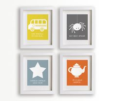 Baby's First Song Set of Four 5x7 Art Prints - Kids Room Art, Kids Decor, Nursery Decor, Children's Wall Art, Playroom Decor. $39.95, via Etsy.