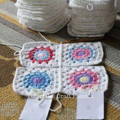 Crochet | Sunburst Granny Square Blanket | Free Pattern & Tutorial at CraftPassion.com