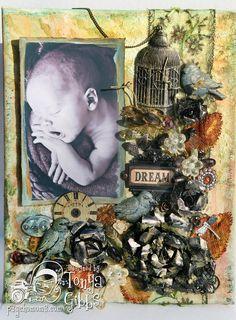 Psycho Moms Scrapbooks: Mixed Media Canvas - Dream