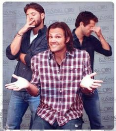Sam/Jared is the son And Misha/CAS Jensen/Dean are the disappointed parents