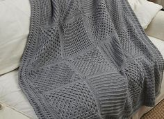 What a great idea! There are 10 square patterns to choose from when making this multi-square blanket. With a granny square being placed between each of the textured squares depending on your choices, the checkerboard arrangement in your afghan will be totally unique! Pretty and with so many great different textures Checkerboard Textures Throw by …