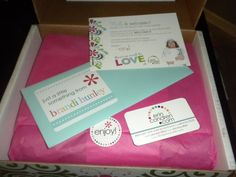 Erin Condren Packaging presentation inside shipping box