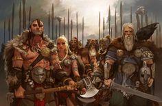 [Blood Rage] Majo, draft et baston chez les vikings Fantasy Warrior, Fantasy Rpg, Medieval Fantasy, Fantasy Artwork, Dark Fantasy, Character Concept, Character Art, Concept Art, Fantasy Inspiration