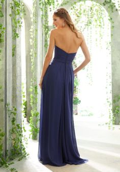 Strapless Chiffon Bridesmaid Dress with Draped Sweetheart Bodice Classic Strapless Bridesmaids Dress Featuring a Draped Sweetheart Bodice and Side Slit A-line Skirt. Designer Bridesmaid Dresses, Dresses To Wear To A Wedding, Bridesmaid Dresses Plus Size, Bridal Dresses, Designer Dresses, Bridesmaids, A Line Gown, Chiffon Gown, Gorgeous Fabrics