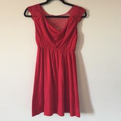 **Bailey Blue Dress** ** Very Pretty Simple Red Dress. Crochet Detailing on the Back and Straps. Only Worn Once. Great for Everyday or Date Night Styling.** Dresses Mini