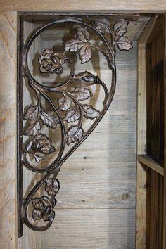 Architectural & Garden Vintage Pair Cast Iron Birds Shelf Brackets Rustic Metal Corbels Garden Braces