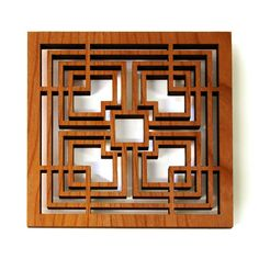 Storer Block Trivet now featured on Fab. frank Lloyd Wright archival drawings inspired the designs for these trivets